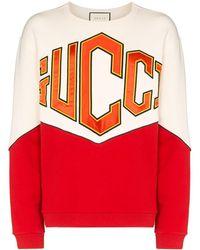Gucci Толстовка С Вышитым Логотипом - Красный