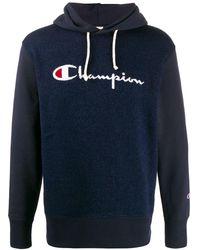 Champion ロゴジャカード パーカー - ブルー