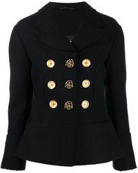 Ports 1961 Single-breasted Peplum Jacket - Black