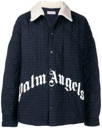Palm Angels キルティング ジャケット - ブルー