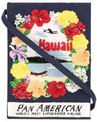 Olympia Le-Tan 'Hawaii' Buch-Clutch - Blau