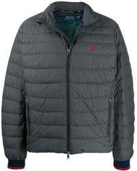Polo Ralph Lauren Feather Down Bomber Jacket - Gray