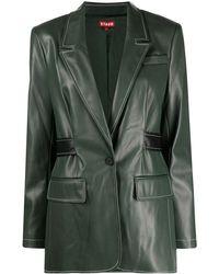 STAUD シングルジャケット - グリーン