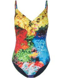 Mary Katrantzou Deep Sea Print Swimsuit - Blue