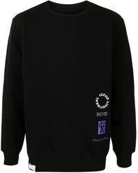 Izzue Logo-print Fleece Sweatshirt - Black