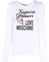 Love Moschino ロングスリーブ トップ - ホワイト