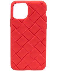 Bottega Veneta Чехол Для Iphone 11 Pro С Плетением Intrecciato - Красный