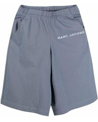 Marc Jacobs ロゴ ショートパンツ - ブルー