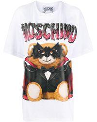 Moschino Bat テディベア Tシャツ - ホワイト
