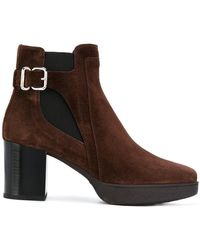 Tod's - Buckle Detail Boots - Lyst
