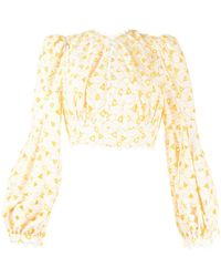 Acler Walker Cropped Top - Yellow