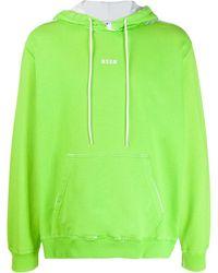 MSGM Худи С Логотипом - Зеленый