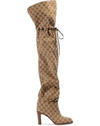 Gucci - Original GG 85 Canvas Over-the-knee Boot - Lyst