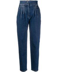 Alberta Ferretti Crystal Detail Jeans - Blue