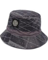 Stone Island Шляпа С Логотипом - Серый