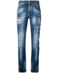 Frankie Morello - Multipatch Distressed Jeans - Lyst