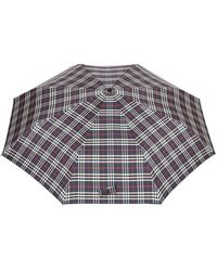 Burberry - Classic Check Folding Umbrella - Lyst
