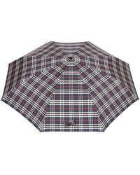 Burberry - Paraguas plegable de cuadros clásico - Lyst