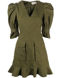 Alexander McQueen Military Mini Dress - Green