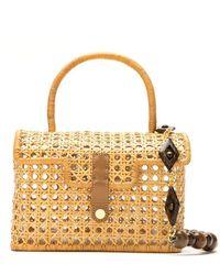 Serpui Straw Clutch Bag - Metallic