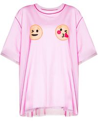 Viktor & Rolf Layered Smiley Face Tシャツ - ピンク