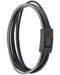Tateossian Intarsio Bracelet - Black