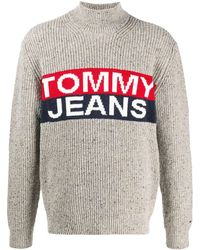 Tommy Hilfiger Coltrui Met Logo - Grijs