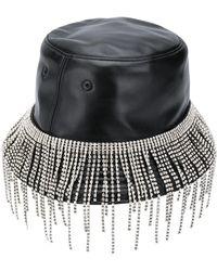 Kara Crystal-embellished Bucket Hat - Black