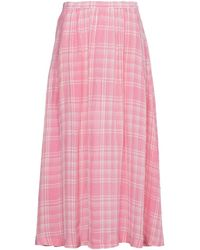 Rosie Assoulin チェック スカート - ピンク