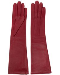 Lanvin Long Leather Gloves - Red