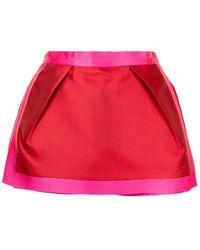Isabel Sanchis Bi-colour Mikado Skorts - Red