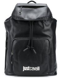 Just Cavalli ロゴ バックパック - ブラック