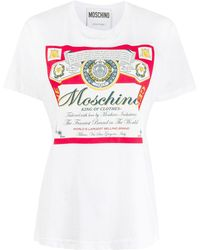 Moschino Camiseta estampada - Blanco