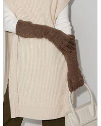 Totême カシミア手袋 - ブラウン