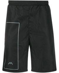 A_COLD_WALL* Logo Print Track Shorts - Black