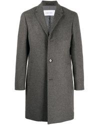 Calvin Klein Crombie Cashmere Coat - Grey