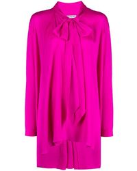 Balenciaga Блузка С Завязками - Розовый