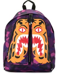 A Bathing Ape - Camouflage Tiger-print Backpack - Lyst