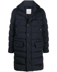 Moncler Удлиненное Пальто-пуховик Dartmoor - Синий
