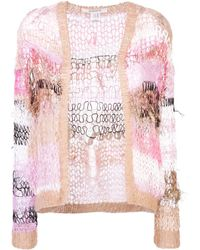 Rodarte Distressed Knit Jacket - Pink