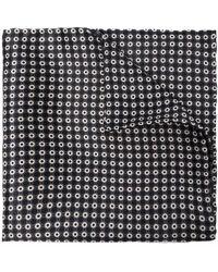 Brioni Écharpe en soie à imprimé géométrique - Noir