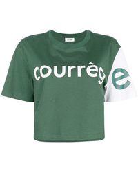 Courreges - Colour Block Cropped T-shirt - Lyst