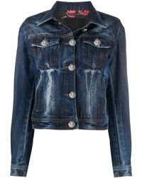 Philipp Plein Джинсовая Куртка С Принтом - Синий