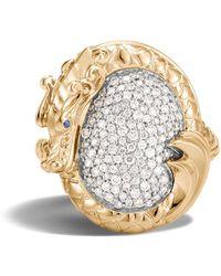 John Hardy Bague Legends Naga en or 18ct ornée de diamants - Métallisé