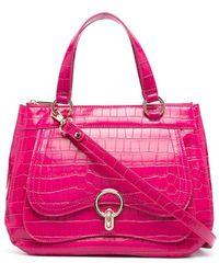 Liu Jo クロコパターン ハンドバッグ - ピンク