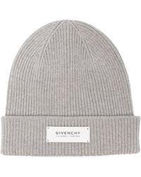 Givenchy Шапка Бини С Нашивкой-логотипом - Серый
