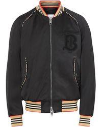 Burberry Men's Harlington Knit Bomber Jacket - Black