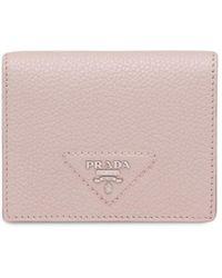 Prada Petit portefeuille à plaque logo - Rose