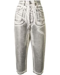 Rick Owens Drkshdw Mid-rise Cropped Jeans - Grey