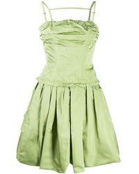 Louis Vuitton Расклешенное Платье Pre-owned Со Сборками - Зеленый